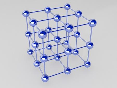 the hutch: High technology background. Molecular crystalline lattice. Stock Photo