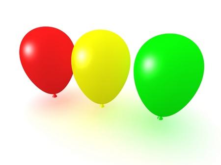 color balloons collection photo