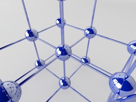 High technology background. Molecular crystalline lattice. Stock Photo - 18316638