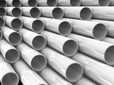 high technology background - aluminum tubes photo