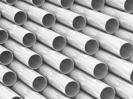high technology background - aluminum tubes photo