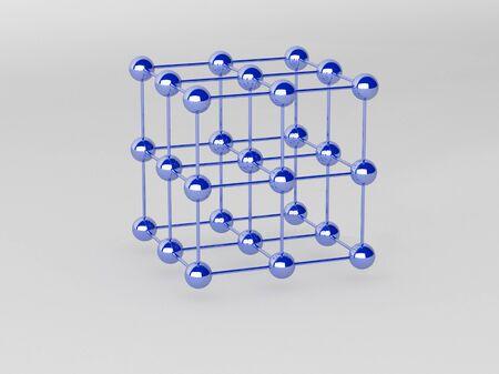 High technology background. Molecular crystalline lattice. photo