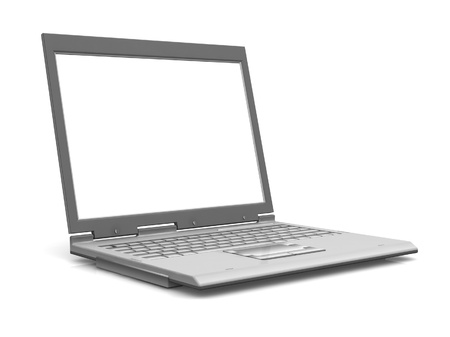 Professional Laptop isolated on white with empty space Stock Photo - 19470112
