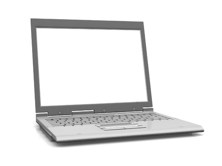 Professional Laptop isolated on white with empty space Stock Photo - 19470122