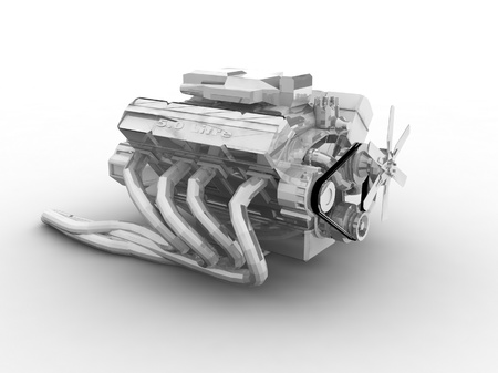 engine parts: car engine
