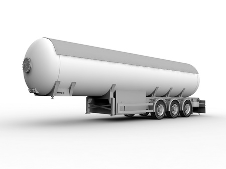 grayscale: Grayscale Auto tank. 3D render.