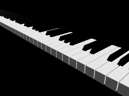 3D piano keyboard photo