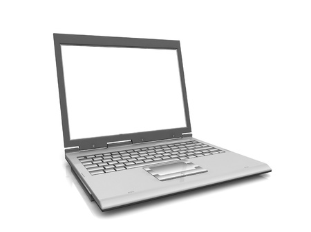 Professional Laptop isolated on white with empty space photo