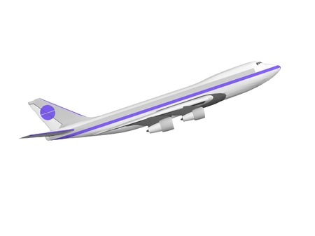jet airplane isolated on white. 3D render. photo