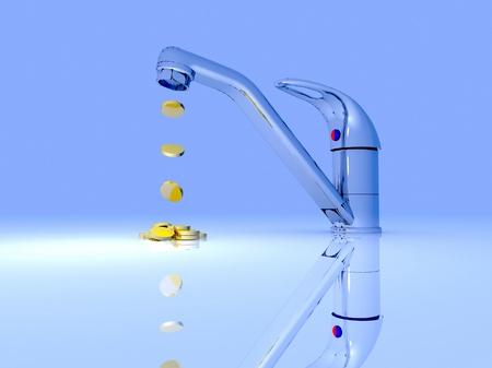 Faucet making money photo