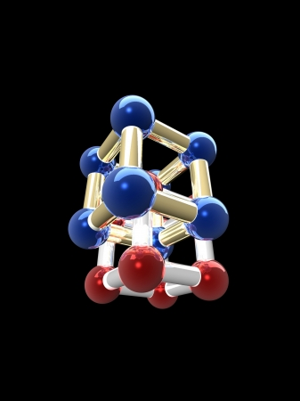 �rystalline lattice of molecule, 3D render. Stock Photo - 20568146