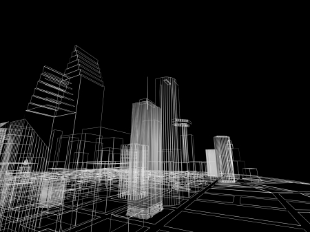 3D abstract city. Concept - modern architecture and designing. Stock Photo - 22559815