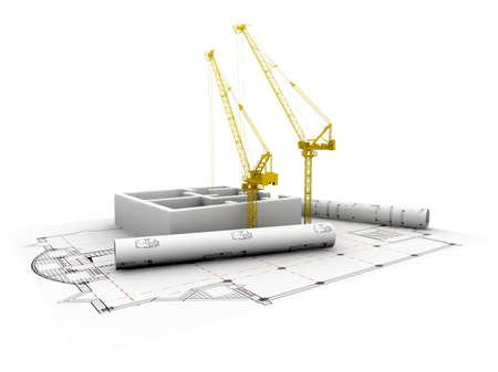 architecture plans: 3D plan drawing