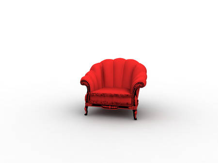 vintage red easy chair photo