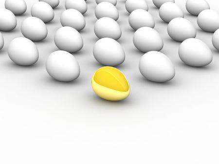 leadership key: Golden egg. Concept - the Best. Stock Photo