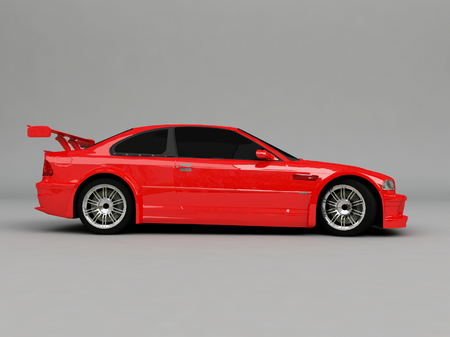 sportcar: 3D Sportcar isolated on gray background Stock Photo