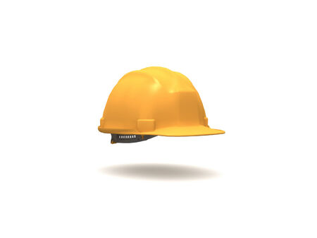 3D Yellow Hard Hat photo