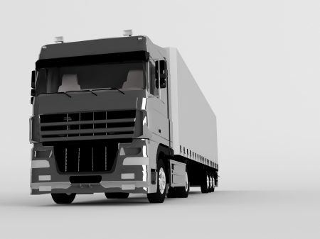 truck isolated on gray Stock Photo