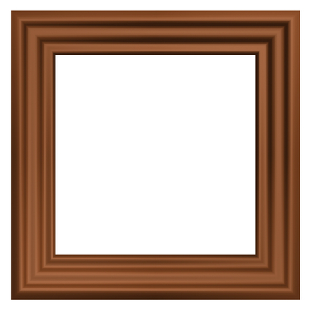 Wooden frame. 3D render. photo