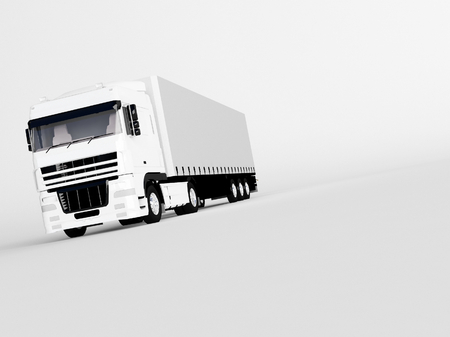 truck isolated on white photo