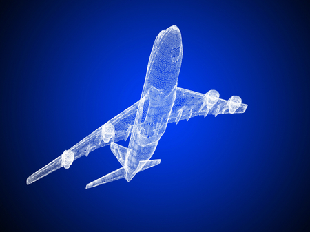 model of jet airplane isolated