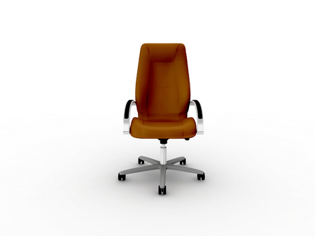 easy chair: brown office easy chair