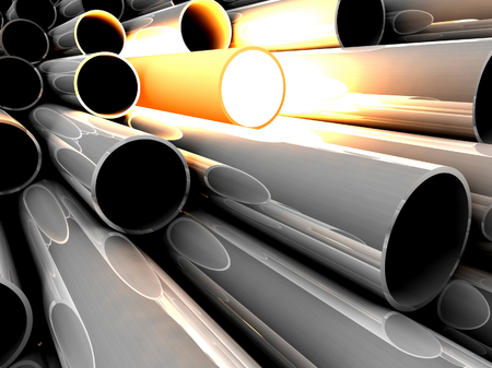 overheated: 3D chrome tubes with overheated tube. Concept - the best.