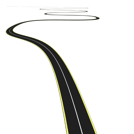 3D Black asphalt road photo