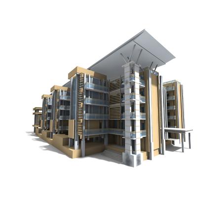 3D Edificio moderno Archivio Fotografico - 28634406