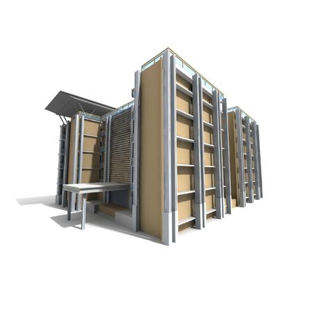 3D Modern building Stock Photo