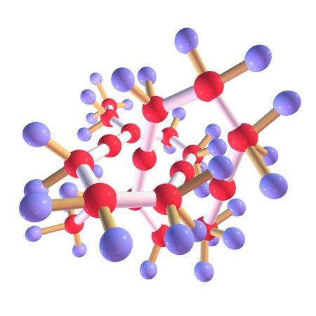 Molecule, 3D render. photo
