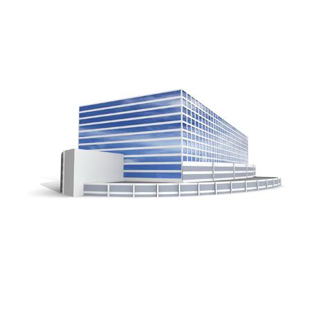 Het moderne bureau op witte 3D achtergrond, geeft terug.