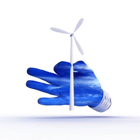 3D eco energy metaphor. photo
