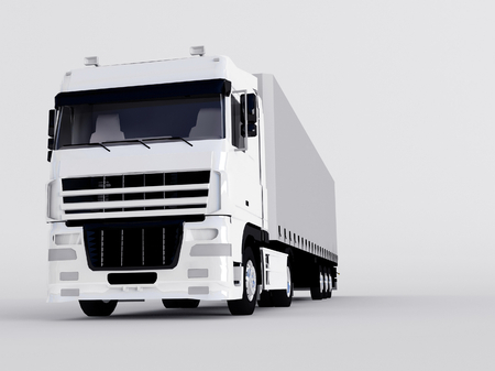 truck isolated on gray photo
