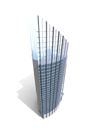3D Modern building. Concept - modern architecture. photo