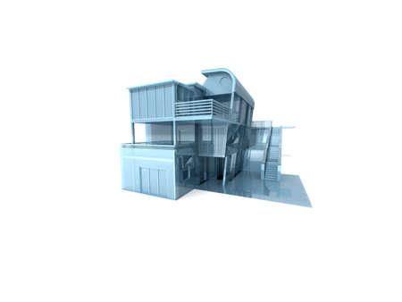 3d: 3D house. Stock Photo