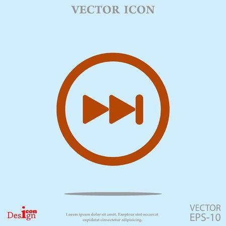 next button: next button vector icon