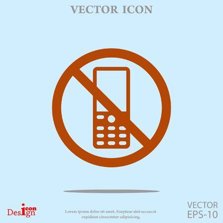 turn off: turn off phone vector icon Illustration