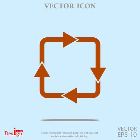 c�clico: icono de vector c�clico Vectores