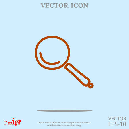detect: lupe vector icon
