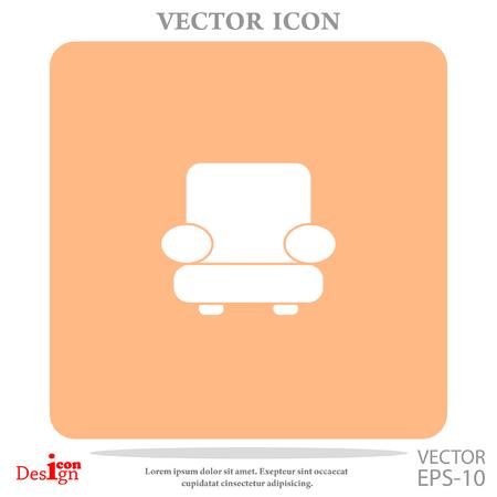 mid century modern: easy chair vector icon