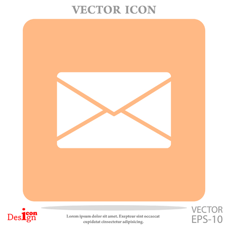 correspondence: letter vector icon Illustration