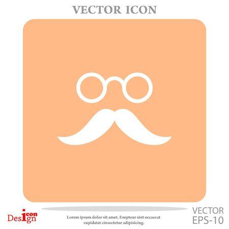 eyeglasses: mustache and eyeglasses vector icon