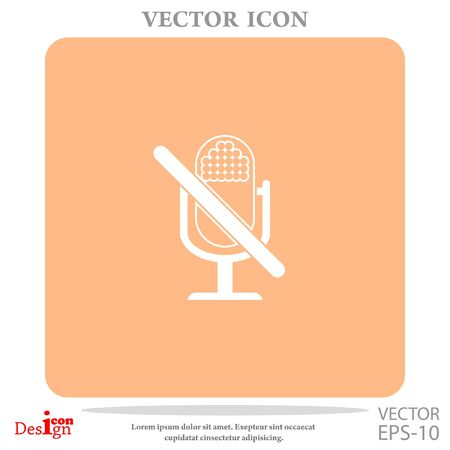 voices: turn off microphone vector icon