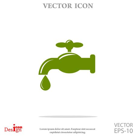 leaking: faucet vector icon Illustration