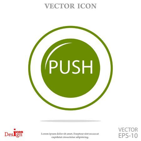 push: push button vector icon