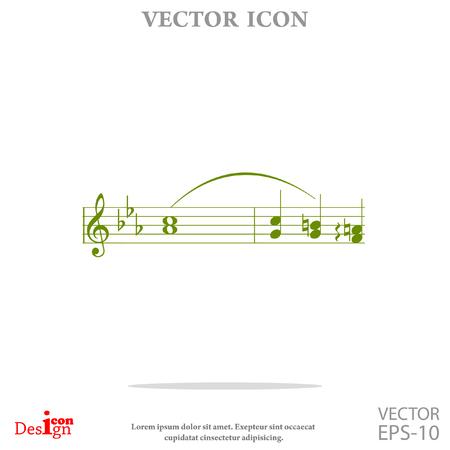 key signature: music vector icon Illustration
