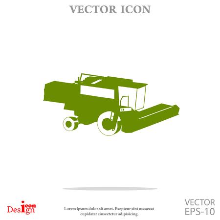 industrial drawing: combine vector icon