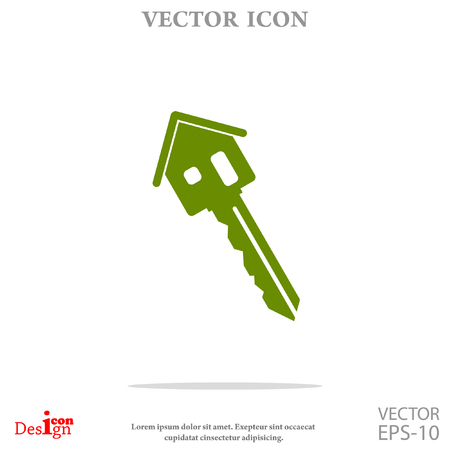 home owner: house key vector icon Illustration