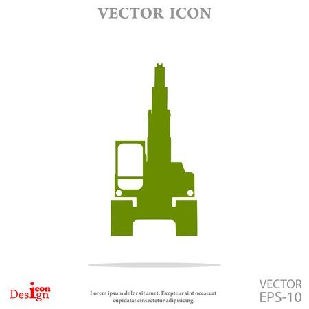 dredge to dig: excavator vector icon